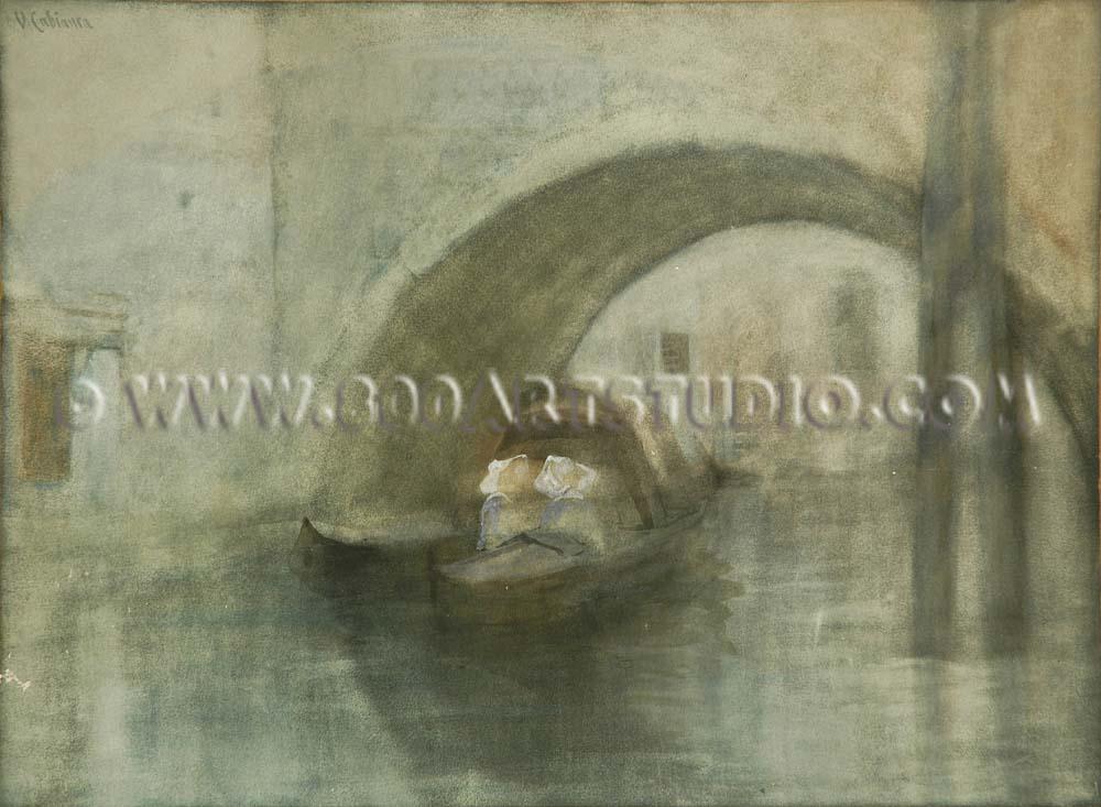 Vincenzo Cabianca - Canale veneziano