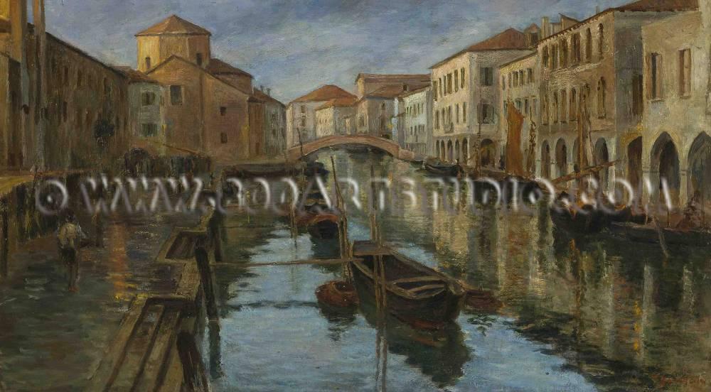 Vittore Zanetti Zilla - Canal Vena a Chioggia