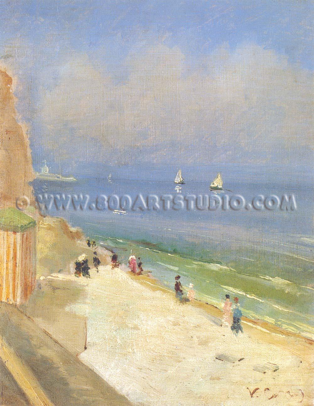 Vittorio Matteo Corcos - Spiaggia a Biarritz